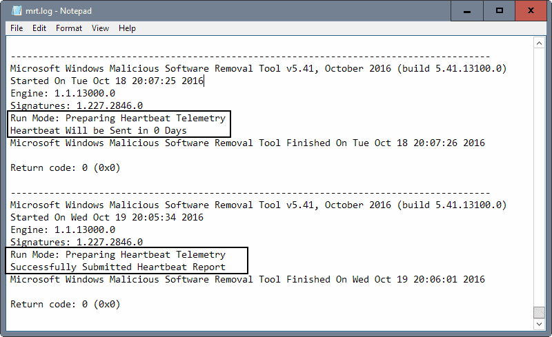 windows-malicious-software removal tool telemetry