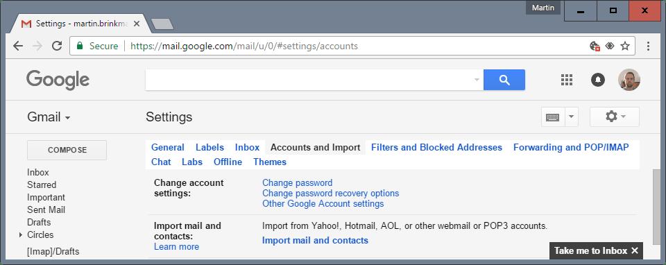 yahoo import gmail