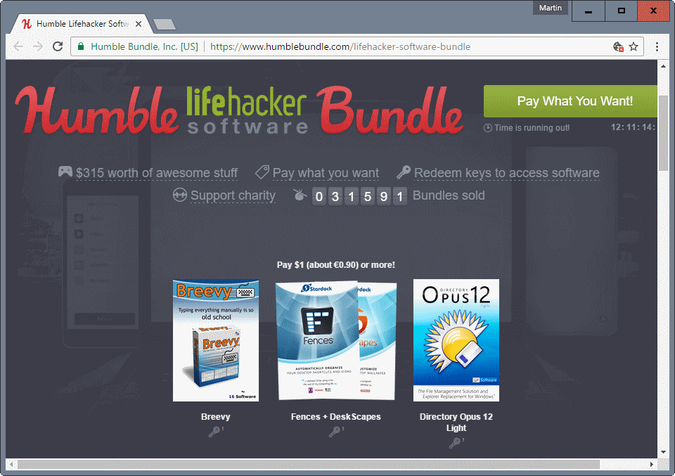 humble bundle lifehacker software