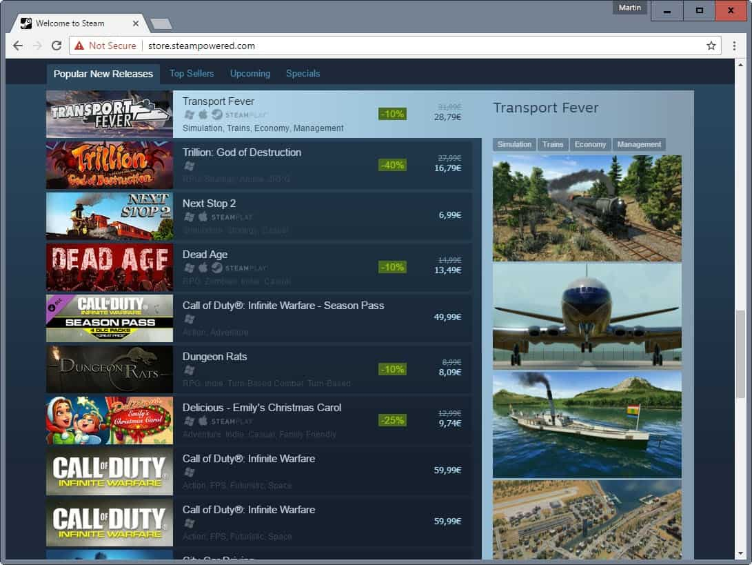 steam popular list