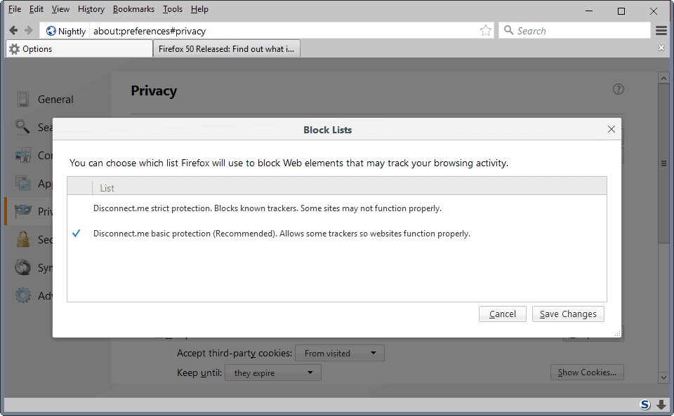 firefox reset preferences