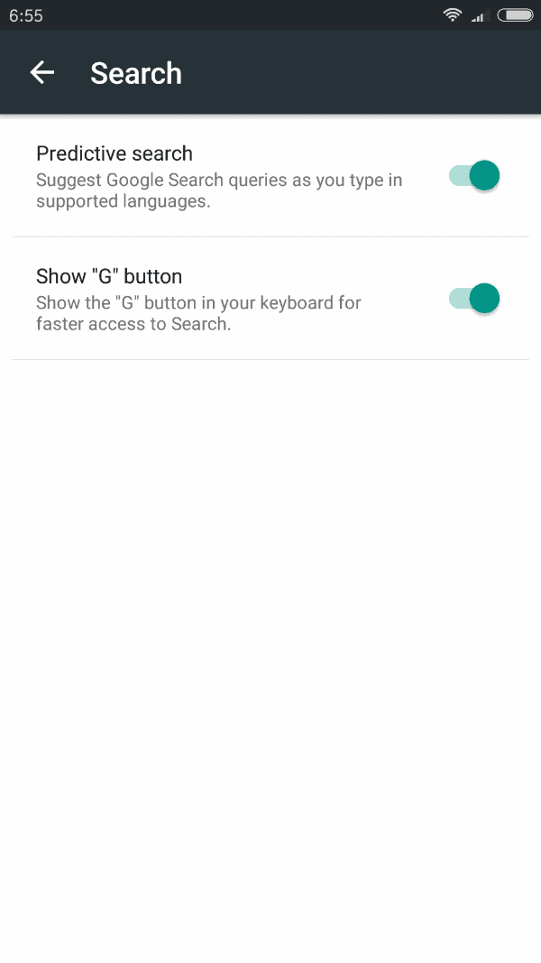 gboard privacy search