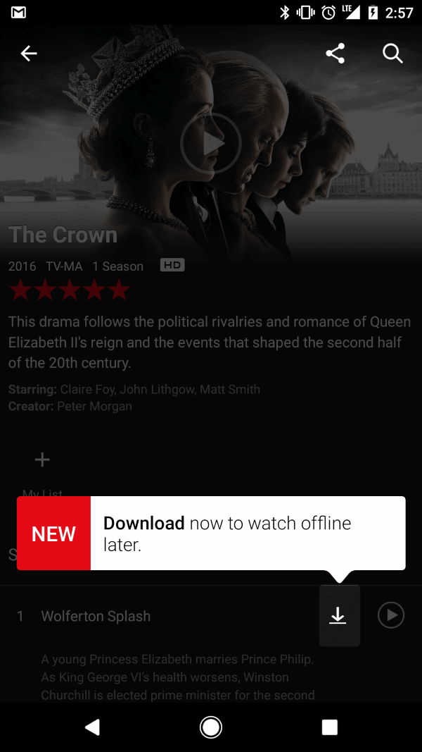 Here is why you can't download Netflix titles  to your Android device