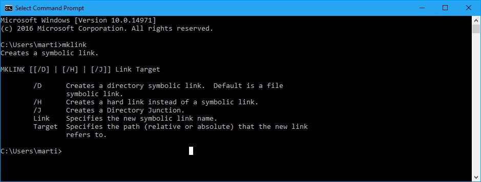 Windows 10 Creators Update: Symlinks without elevation