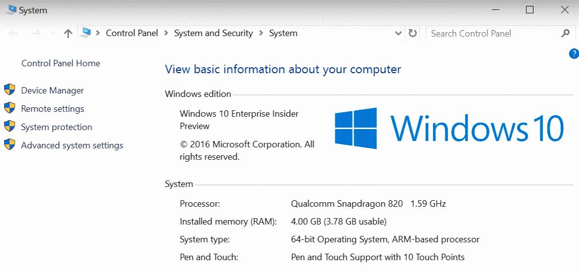 windows 10 qualcomm