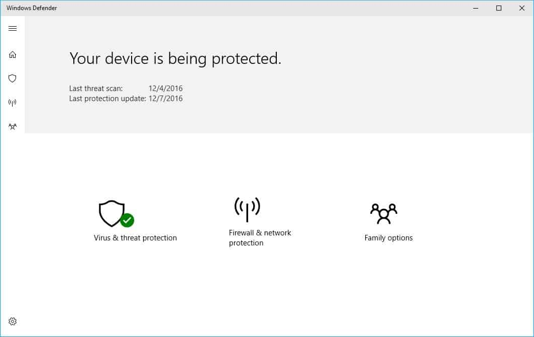 windows defender new dashboard
