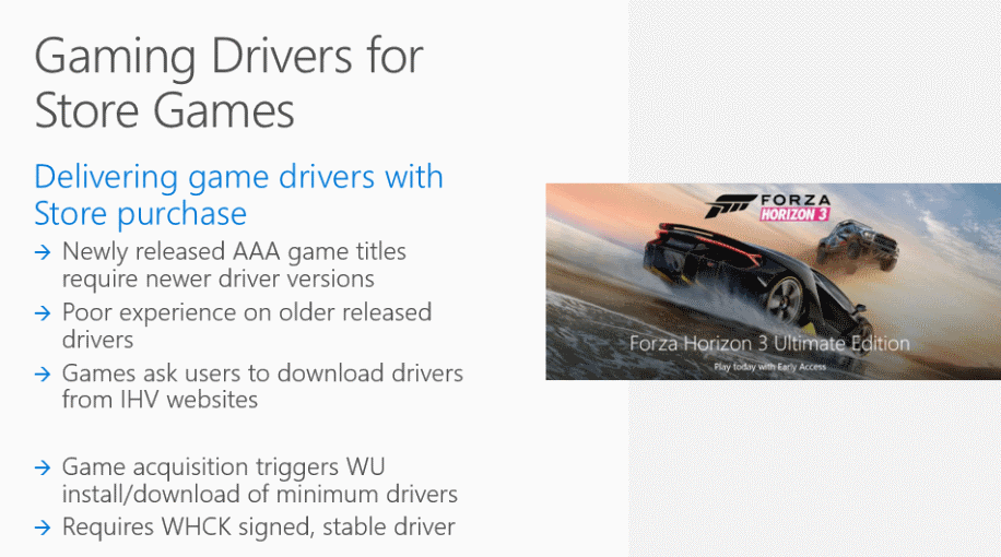 windows gaming drivers store