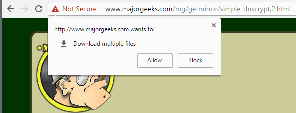 chrome download multiple files prompt