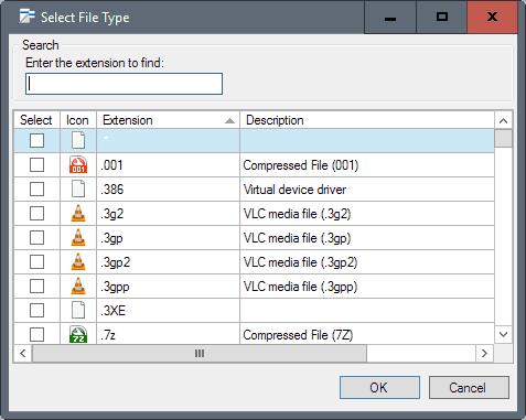 context menu file type
