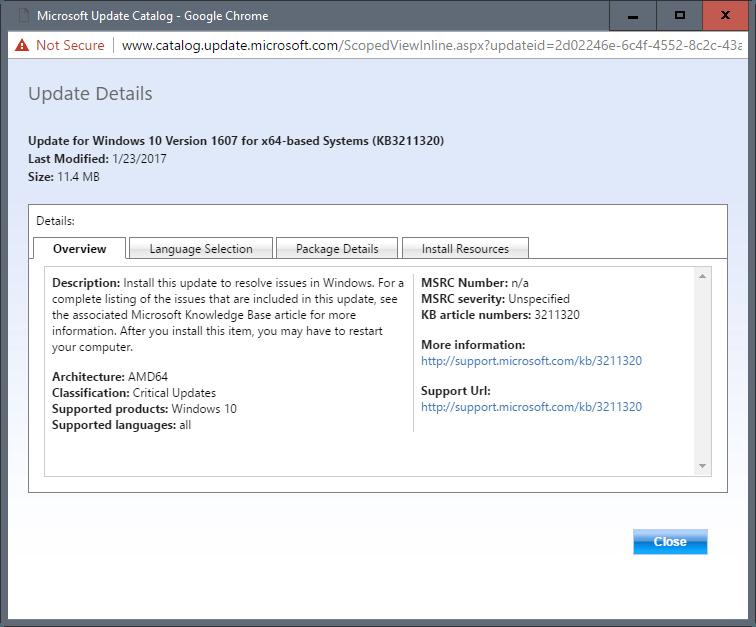 kb3211320 update