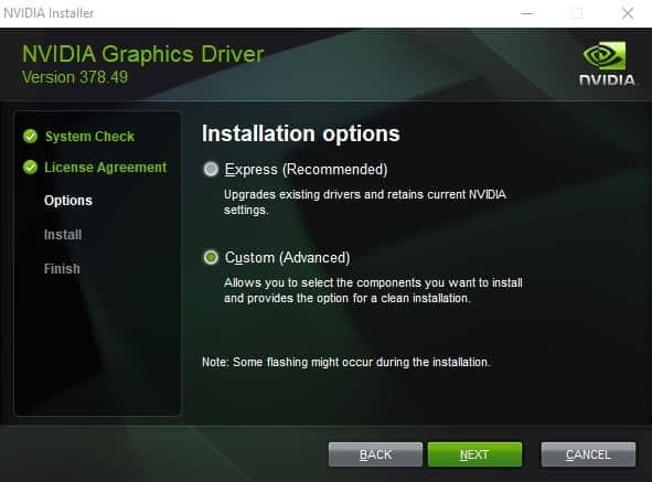 Updating nvidia drivers in vista