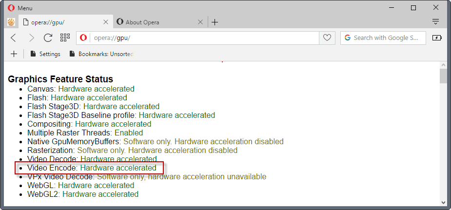 opera video acceleration non mse