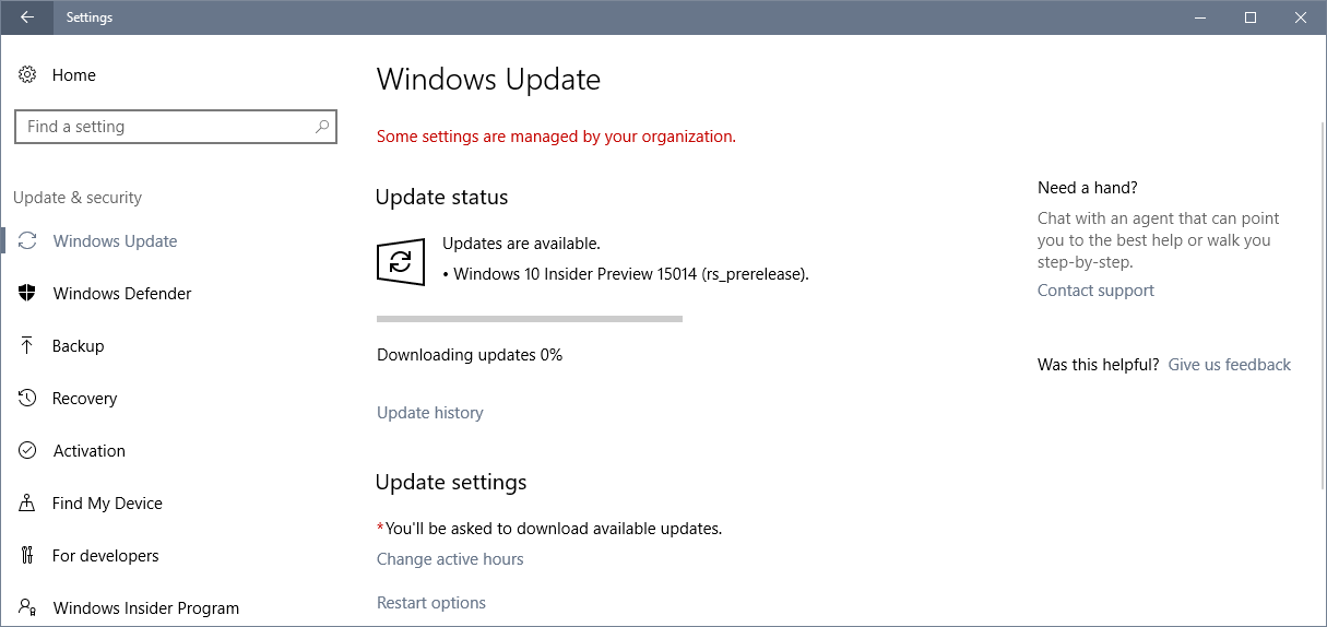 windows 10 insider preview 15014