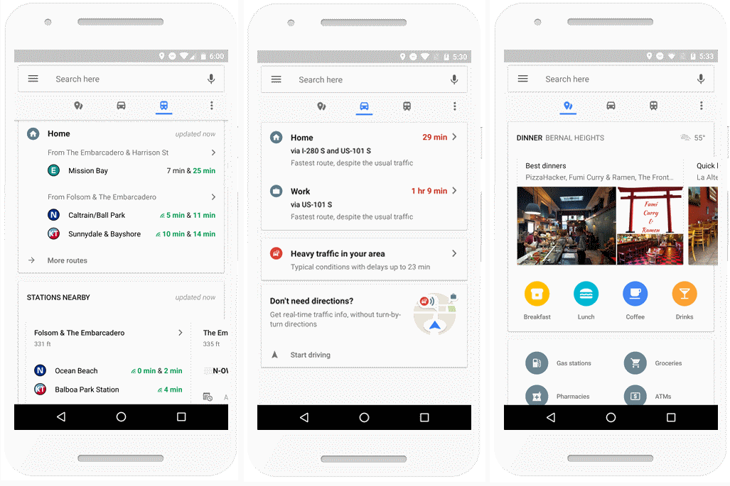 Google Maps on Android gets real-time commute info