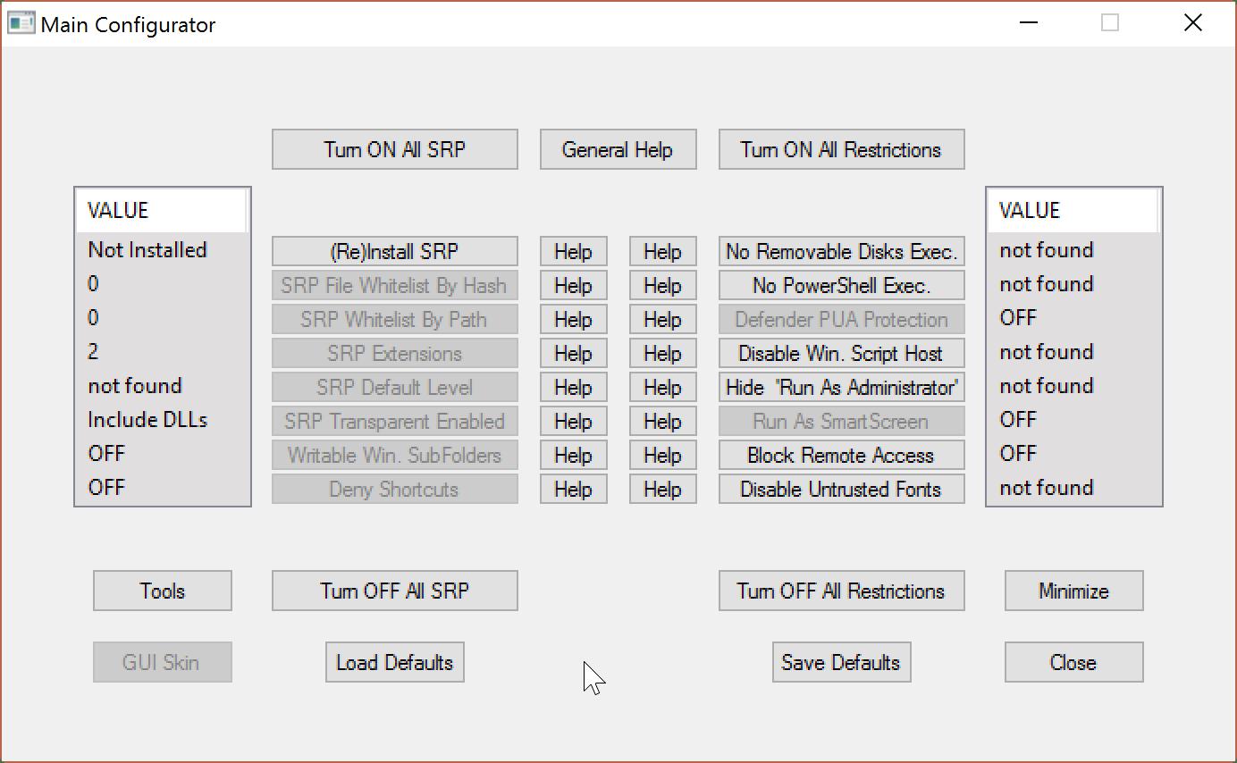 hard configurator