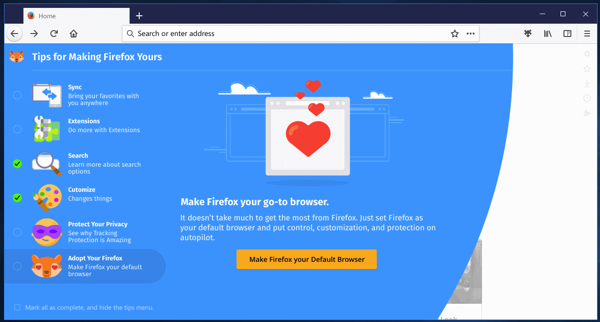 firefox photon tips 6