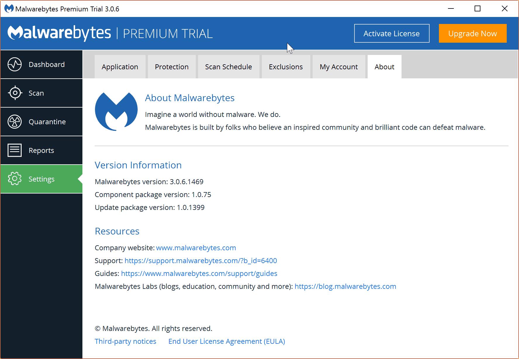 malwarebytes 3.0.6 component 1.0.75 update