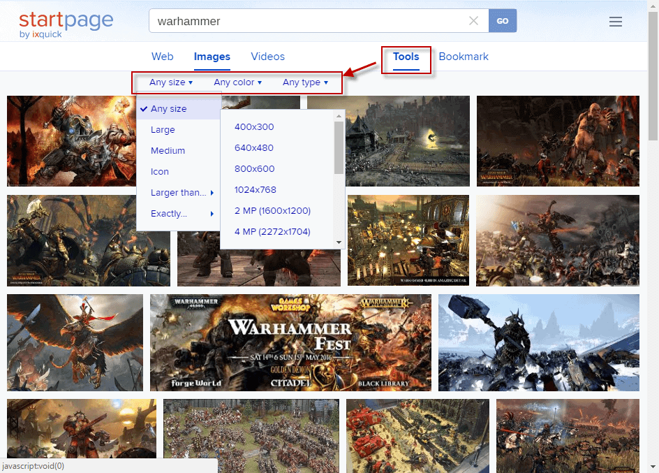 Exclusive preview of Startpage's new image search tools