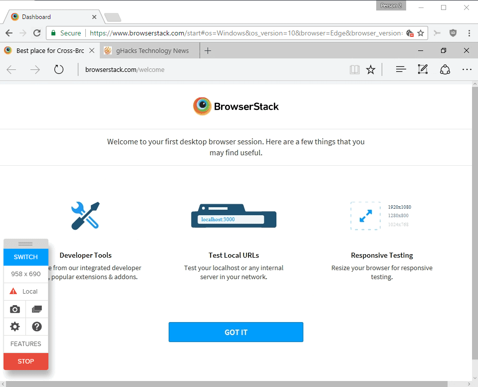 browserstack edge