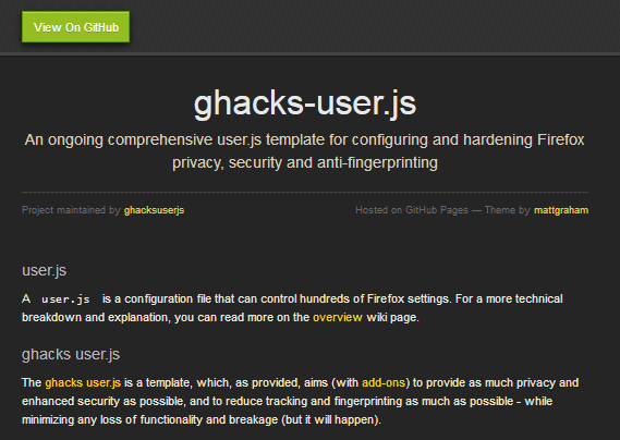 ghacks user js