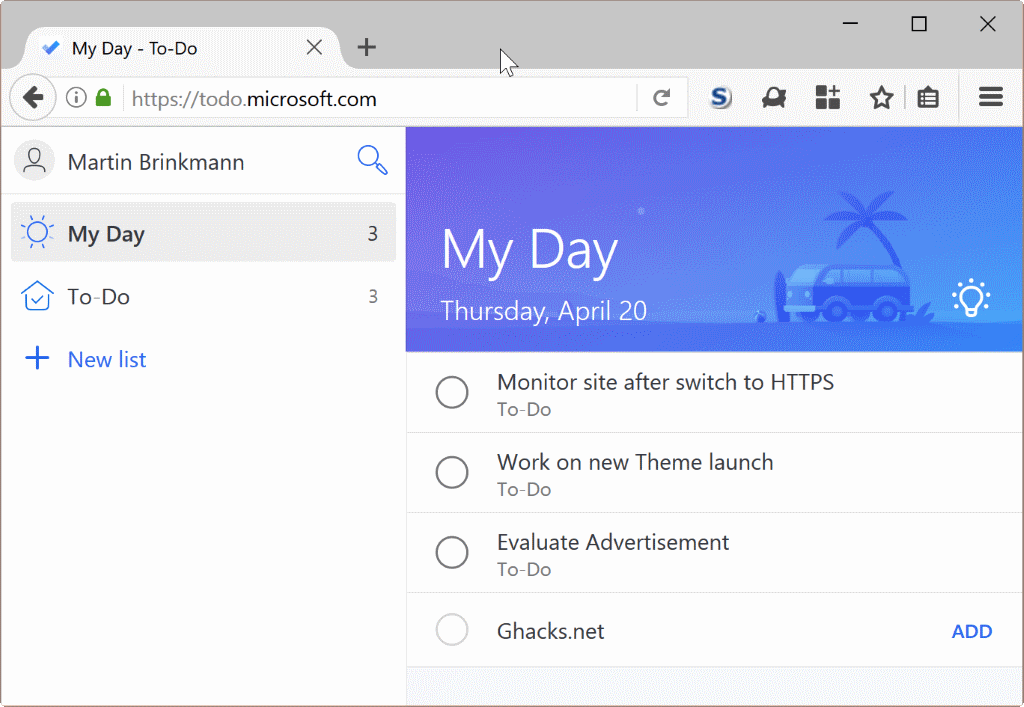 Microsoft to do the end of wunderlist ghacks tech news for Web and windows