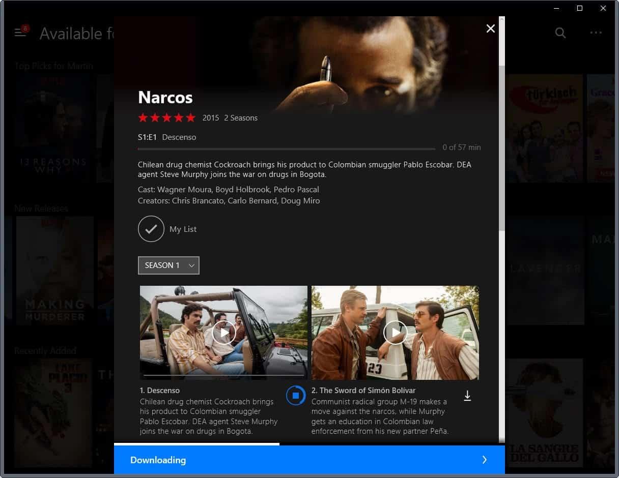 Netflix desktop app download