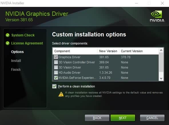 Nvidia GeForce Driver 381.65 with Windows 10 Creators Update support
