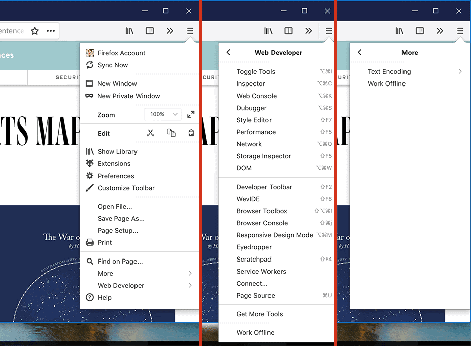 photon firefox 57 new menu