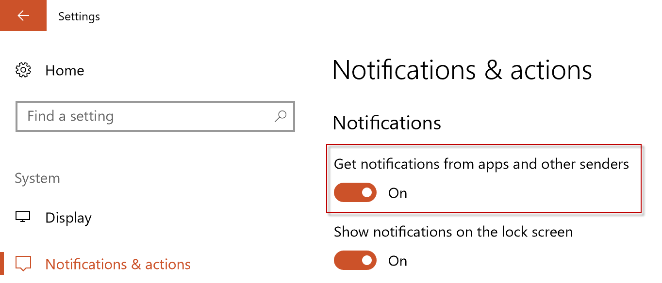 show notifications
