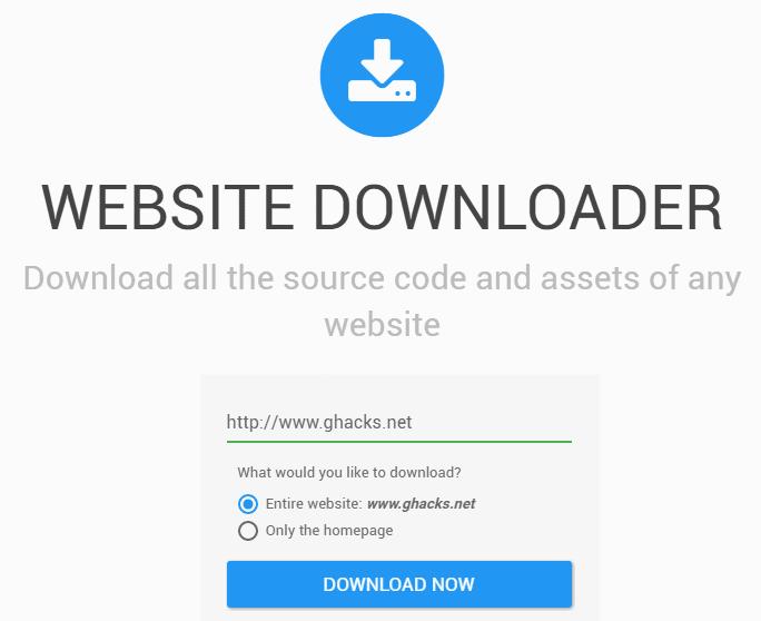 website downloader