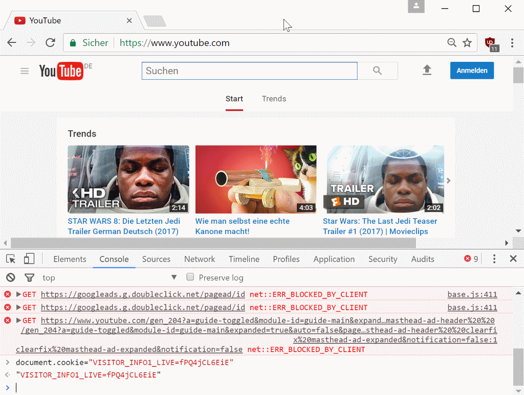 youtube chrome dark mode