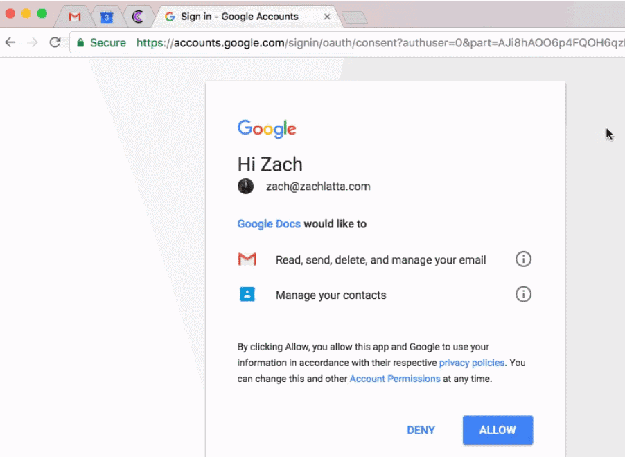 Google warns of phishing email scam