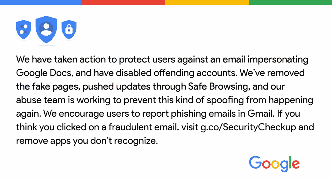 Beware unexpected Google Docs, the latest phishing scam