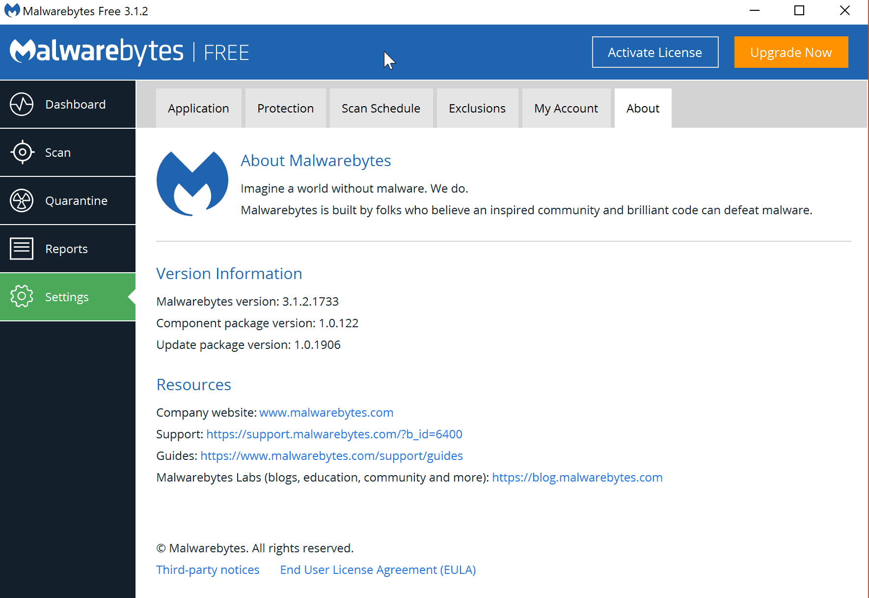 Malwarebytes problems updating