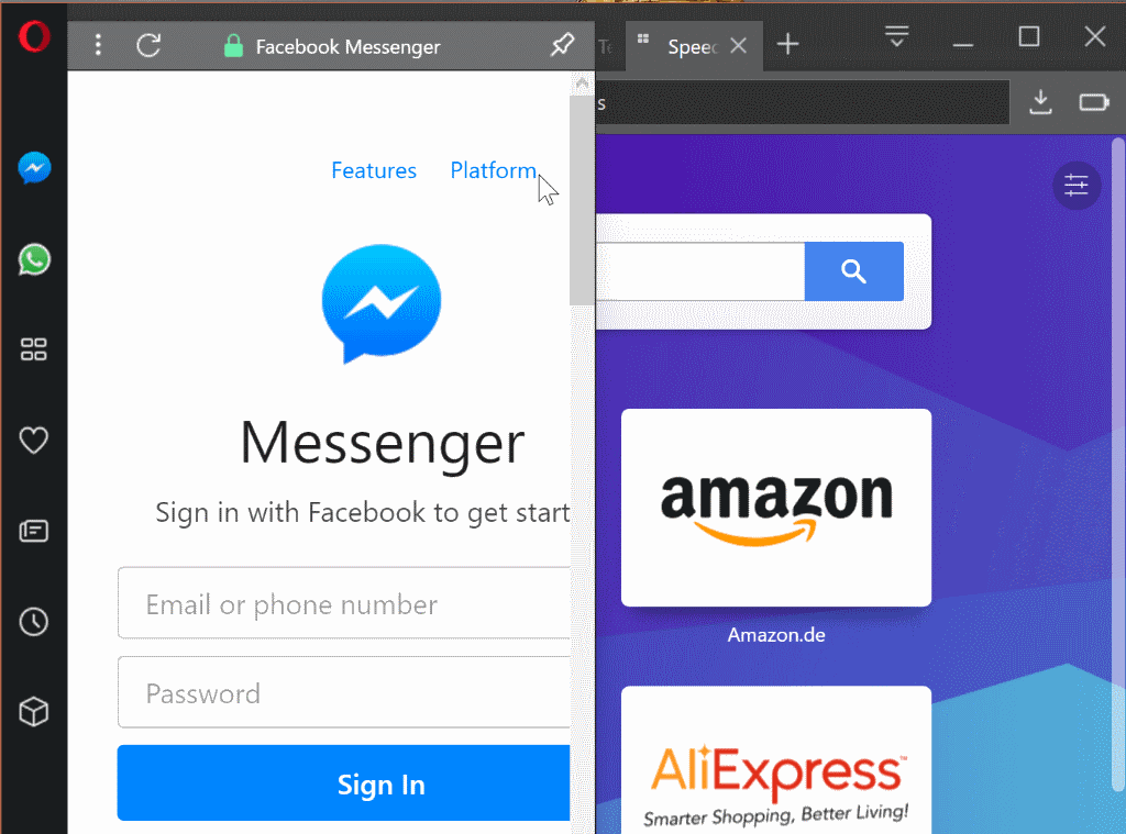 Opera 45 Stable ships: Messenger support, redesign - Tech