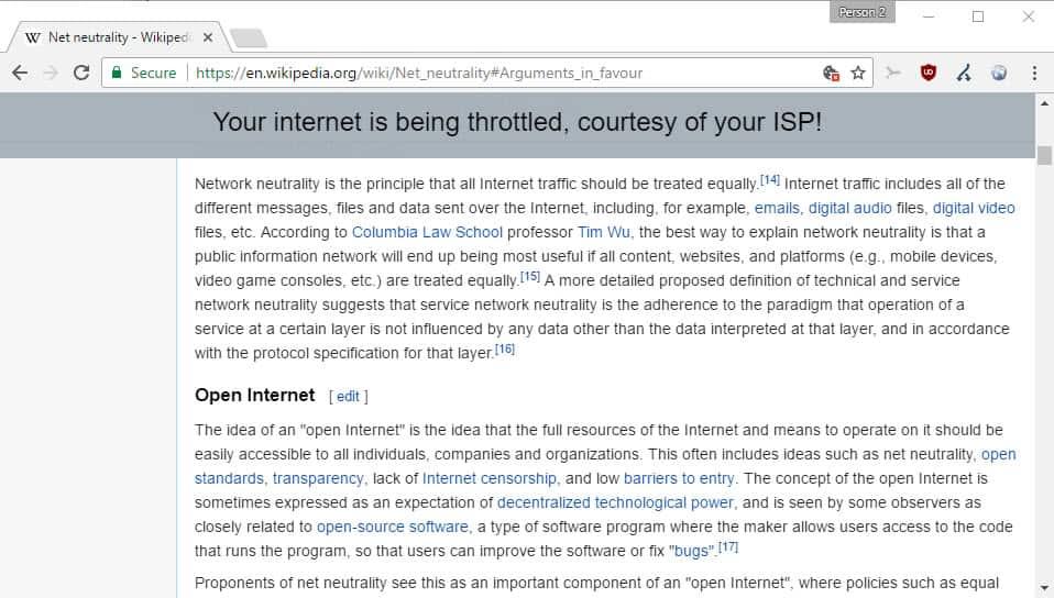 net neutrality simulator