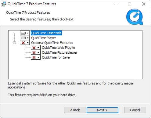 quicktime installation for windows