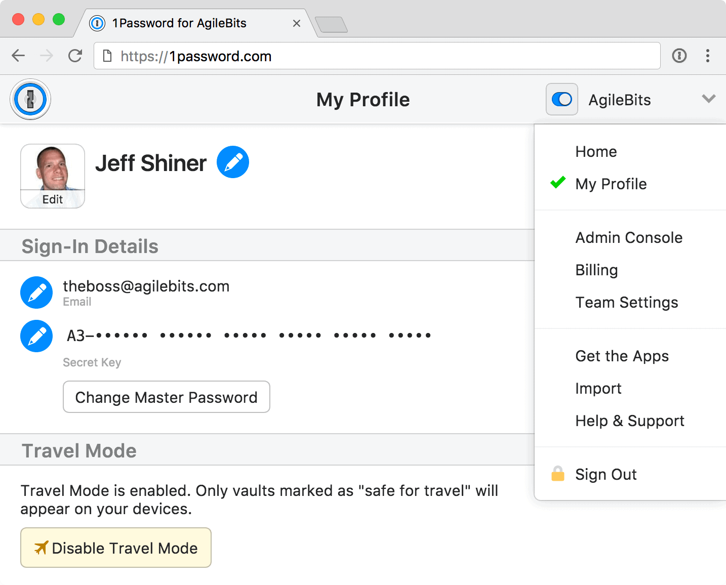 A look at 1Password's Travel Mode