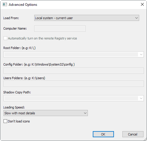 uninstallview advanced options