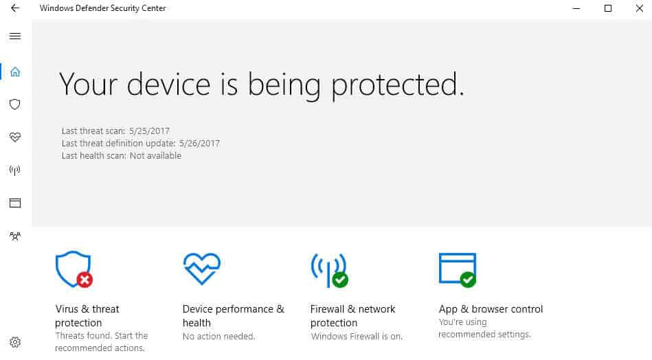 Set Windows Defender Antivirus blocking to high on Windows 10
