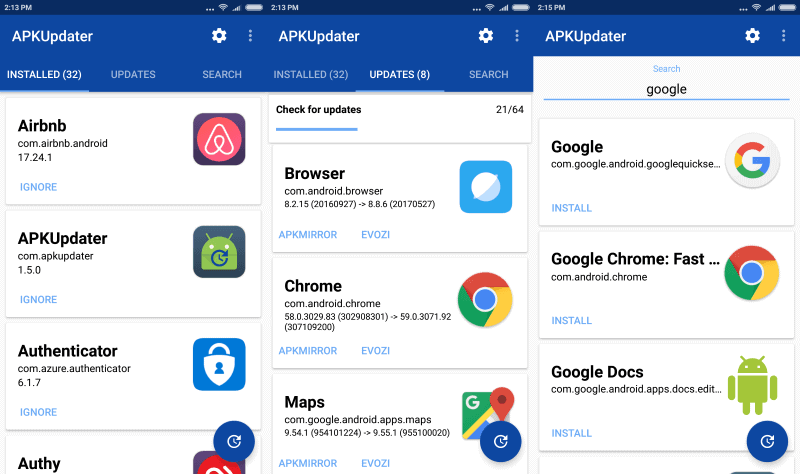 apkupdater 1.5 android