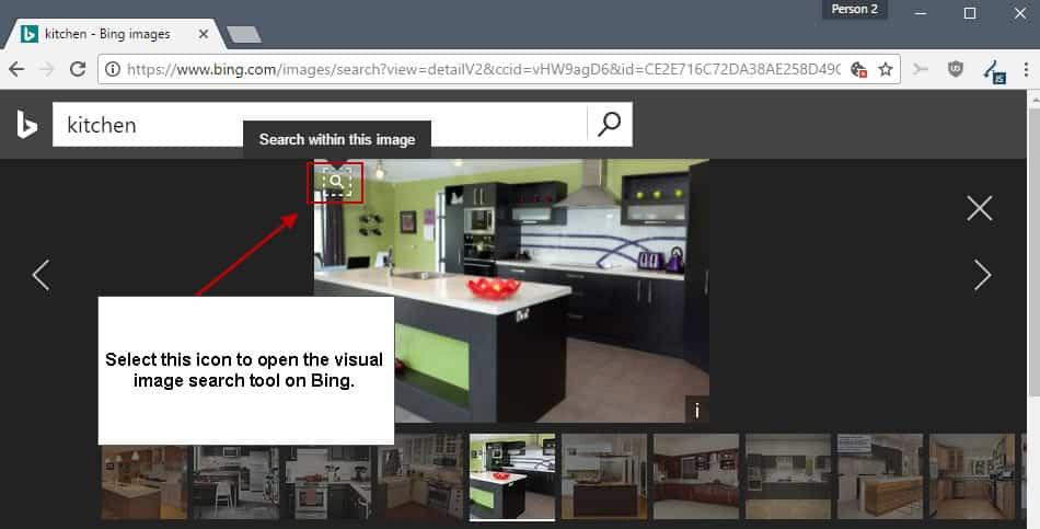 bing visual image search