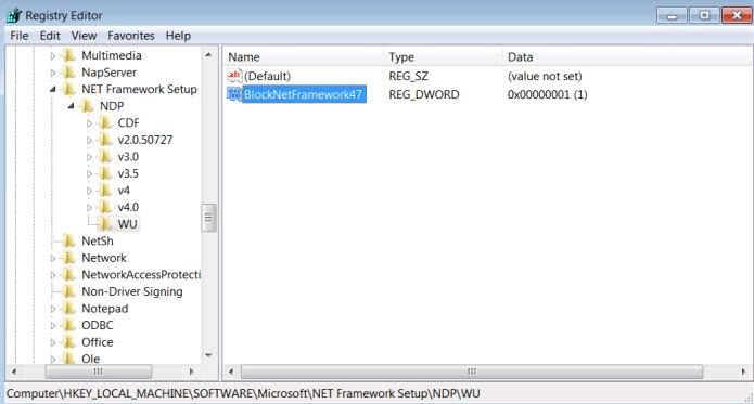 block net framework 4.7