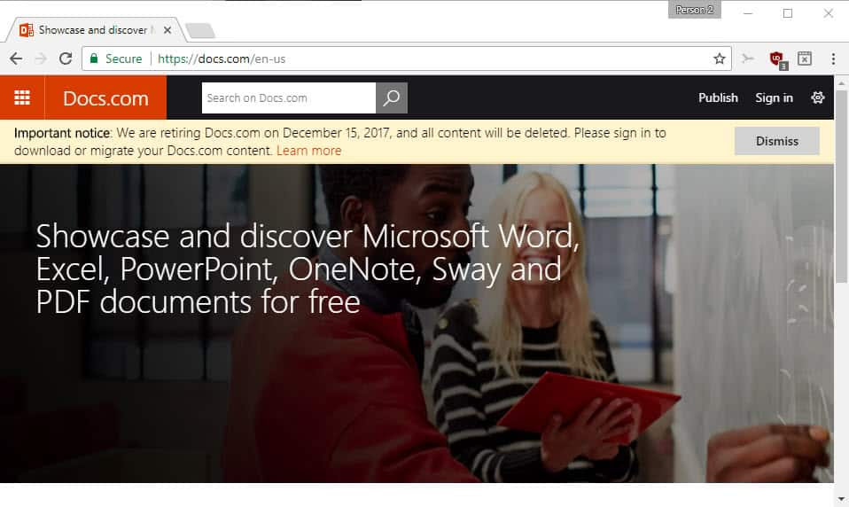 Microsoft is shutting down Docs.com