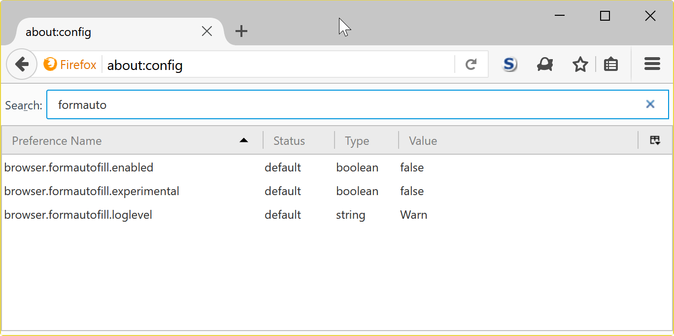 firefox 54 preferences changes