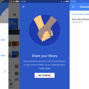 google photos share your library