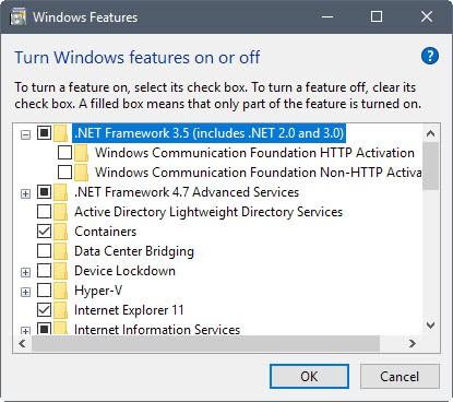 Run .Net Framework 2.0, 3.0 and 3.5 on Windows 10 - gHacks Tech News