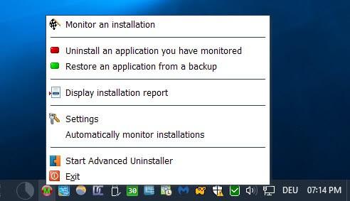 monitor an installation