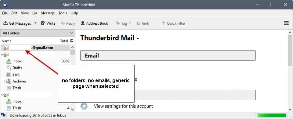 Thunderbird 52.2.0 update: issues with IMAP folders