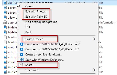 Remove Windows 10 Context Menu bloat